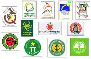 Logotipos agricultura integrada por comunidades autónomas